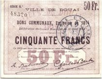 France 50 Francs Douai Commune - 1914