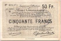 France 50 Francs Douai Commune - 1916