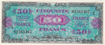 France 50 Francs French flag - 1944 - Serial X - UNC