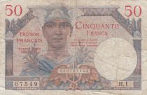 France 50 Francs French Treasury - 1947 - Serial H.1