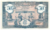 France 50 Francs Groupement Commercial Roannais - 1945 - SUP
