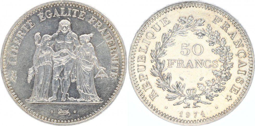 France 50 Francs Hercule avers de la 20 Francs - 1974