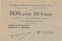 France 50 Francs Houillières du Pas de Calais - Prisonniers de Guerre 1940-1945