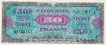 France 50 Francs Impr. américaine (drapeau) - 1944 - Grand X - Neuf