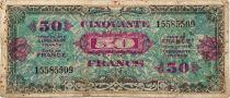 France 50 Francs Impr. américaine (drapeau) - 1944 - TB