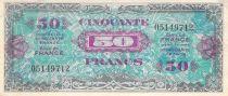 France 50 Francs Impr. américaine (Drapeau) - 1944 Sans Série - TTB