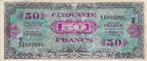 France 50 Francs Impr. américaine (Drapeau) - 1944 Série X - TTB