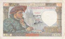 France 50 Francs Jacques Coeur - 02-10-1941 Série J.125 - TB+