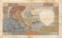 France 50 Francs Jacques Coeur - 02-10-1941 Série K.125 - TB+