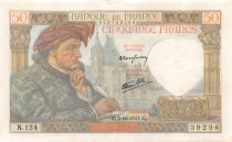 France 50 Francs Jacques Coeur - 02-10-1941 Série N.124 - TTB+
