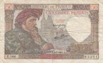 France 50 Francs Jacques Coeur - 05-02-1942 Série E.166 - TB - Rare