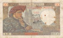 France 50 Francs Jacques Coeur - 05-09-1940 Serial S.15 - F