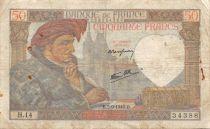 France 50 Francs Jacques Coeur - 05-09-1940 Série H.14 - TB
