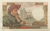 France 50 Francs Jacques Coeur - 05-09-1940 Série V.15 - TTB