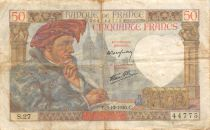 France 50 Francs Jacques Coeur - 05-12-1940 Serial S.27 - F to VF