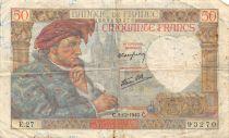 France 50 Francs Jacques Coeur - 05-12-1940 Série E.27 - BTB