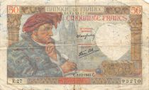 France 50 Francs Jacques Coeur - 05-12-1940 Série E.27 - BTB