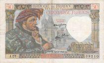France 50 Francs Jacques Coeur - 05-12-1940 Série J.27 - TB+