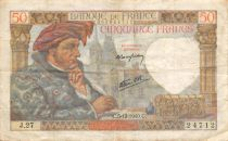 France 50 Francs Jacques Coeur - 05-12-1940 Série J.27 - TTB