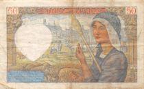 France 50 Francs Jacques Coeur - 05-12-1940 Série J.27 - TTB