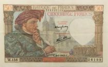 France 50 Francs Jacques Coeur - 08-01-1942 Serial W.156 - VF+