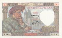 France 50 Francs Jacques Coeur - 08-01-1942 Série B.164
