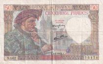 France 50 Francs Jacques Coeur - 08-01-1942 Série S.162 - TTB