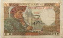 France 50 Francs Jacques Coeur - 08-01-1942 Série U.163 - TTB