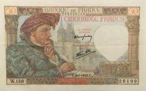 France 50 Francs Jacques Coeur - 08-01-1942 Série W.156 - TTB+