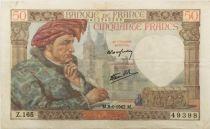 France 50 Francs Jacques Coeur - 08-01-1942 Série Z.165 - TTB