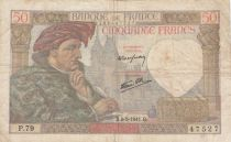 France 50 Francs Jacques Coeur - 08-05-1941 Série P.79 - TB