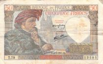 France 50 Francs Jacques Coeur - 08-05-1941 Série T.79 - TB