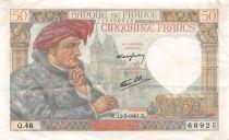 France 50 Francs Jacques Coeur - 12-03-1941 Série Q.46 - TTB