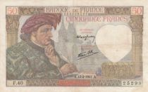 France 50 Francs Jacques Coeur - 13-02-1941 Série F.40 - TB+