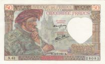 France 50 Francs Jacques Coeur - 13-03-1941 Serial N.43 - XF+