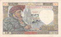 France 50 Francs Jacques Coeur - 13-03-1941 Série D.48 - TB+