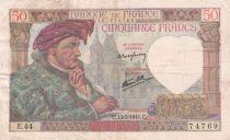 France 50 Francs Jacques Coeur - 13-03-1941 Série E.44 - TTB