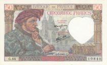 France 50 Francs Jacques Coeur - 13-03-1941 Série G.44 - SUP