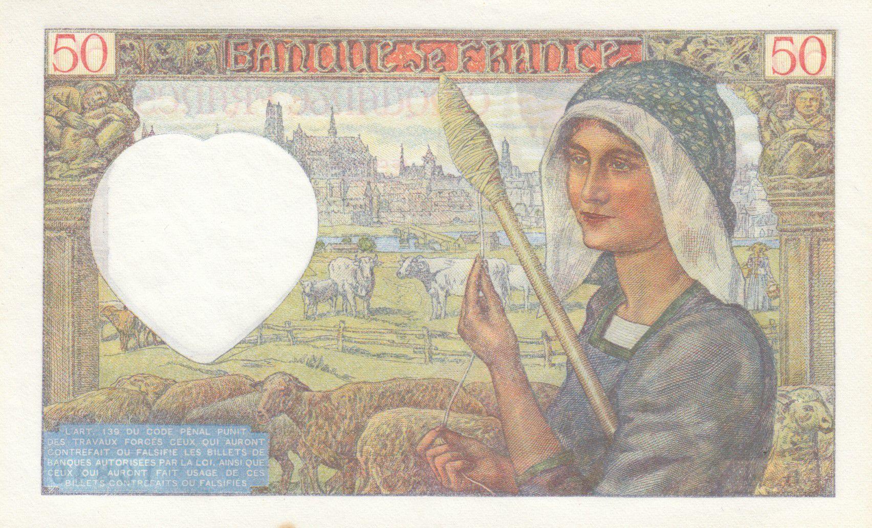France 50 Francs Jacques Coeur - 13-03-1941 Série G.44 - SUP
