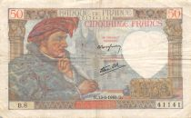 France 50 Francs Jacques Coeur - 13-06-1940 Serial B.8 - VF