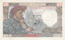 France 50 Francs Jacques Coeur - 13-06-1940 Serial C.7 - F to VF