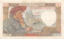 France 50 Francs Jacques Coeur - 13-06-1940 Serial H.6 - VF
