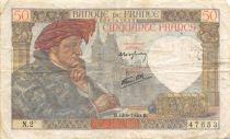 France 50 Francs Jacques Coeur - 13-06-1940 Serial N.2 - VF