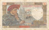 France 50 Francs Jacques Coeur - 13-06-1940 Serial U.3 - F+