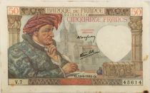 France 50 Francs Jacques Coeur - 13-06-1940 Serial V.7 - VF