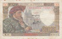 France 50 Francs Jacques Coeur - 13-06-1940 Serial W.10 - F