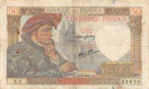 France 50 Francs Jacques Coeur - 13-06-1940 Serial X.1 - F
