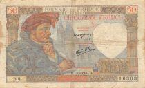 France 50 Francs Jacques Coeur - 13-06-1940 Série B.8 - TB