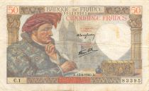 France 50 Francs Jacques Coeur - 13-06-1940 Série C.1 - TTB
