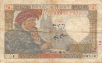 France 50 Francs Jacques Coeur - 13-06-1940 Série C.4 - TB
